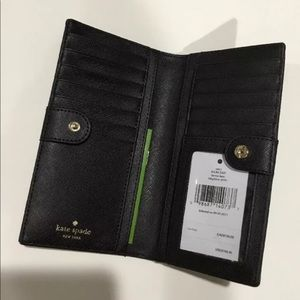 45d5a9f4059fa kate spade Bags - NWT Kate Spade Blk Glitter Haven Lane Stacy Wallet